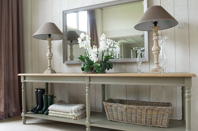 extra long console table   Console table hallway, House interior .