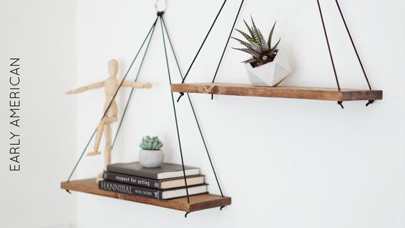 Hanging Shelves / Set of 2 Large Shelves / Floating Shelves / | Et
