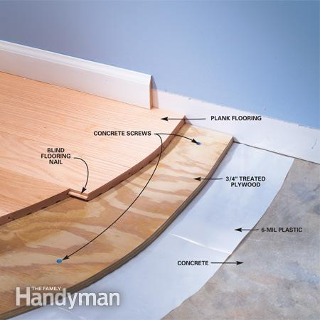 Installing Wood Flooring Over Concre