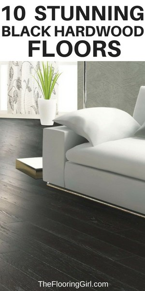 10 Stunning Black Hardwood Floors and Black Stain Colors   The .