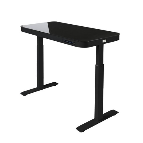 """47"""" Tempered Glass Electric Height Adjustable Sit/Stand Desk With ."""