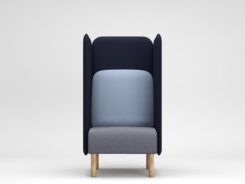 AUGUST | High-back armchair August Collection By SOFTREND design .