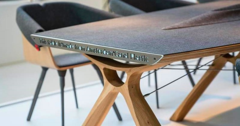 Plastic Trash From Amsterdam Canals Turned Into High-End Furnitu