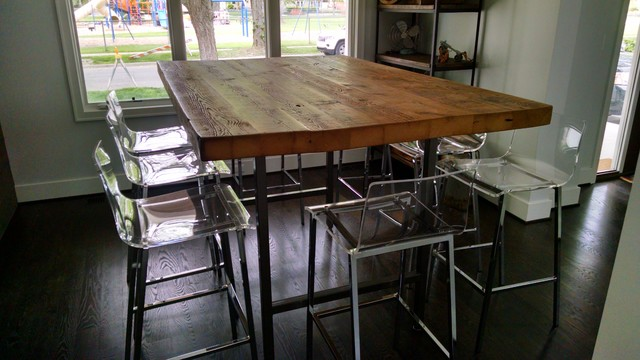 HIgh top reclaimed wood communal table - Modern - Dining Room .