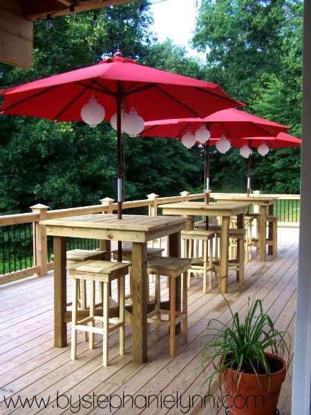 High top table and chair pallet … | Diy outdoor, Patio, Deck par