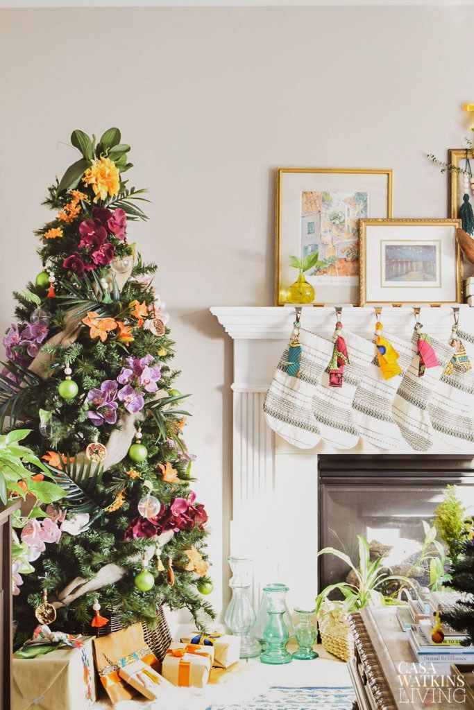 Global Bohemian Holiday Decor Ideas For The Living Room   Tropical .