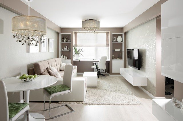 Small Spaces Big Ideas – Small Chandeliers - Contemporary - Living .