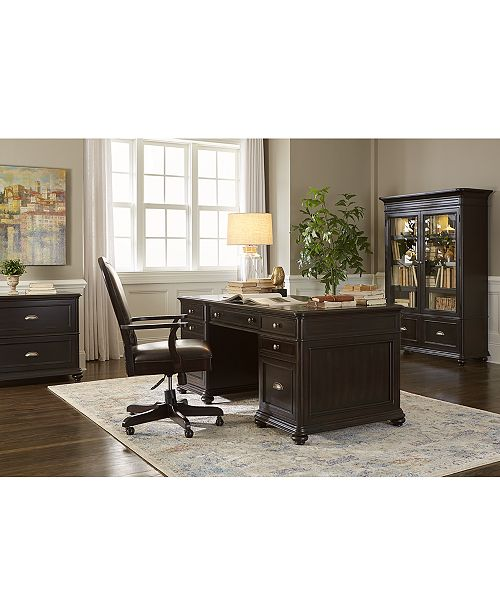 Furniture Clinton Hill Ebony Home Office Furniture Collection .
