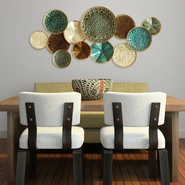 Shop The Curated Nomad Mel Home Multicolor Metal Plates Wall Decor .