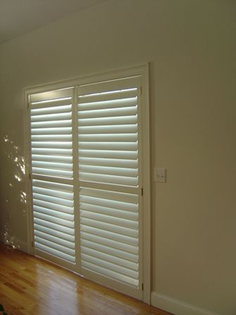 horizontal blinds for sliding glass doors also a neat way to hang .