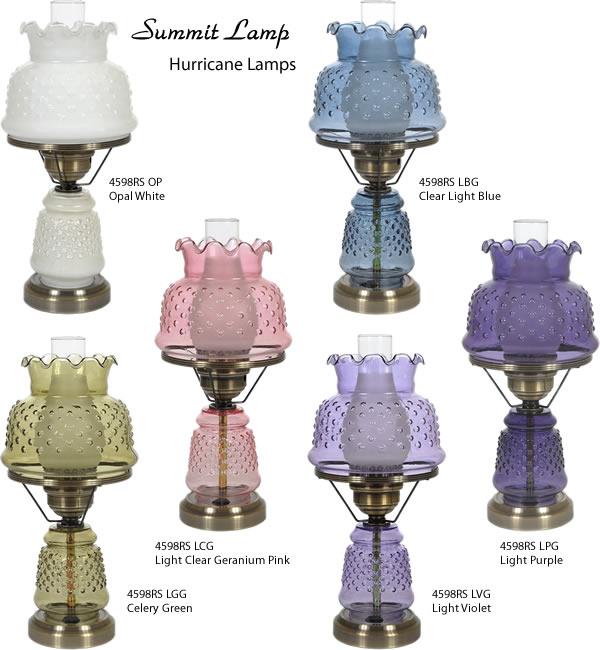 Hurricane Lamps, Parlor Lamps and Gone With the Wind Lamps - Deep .