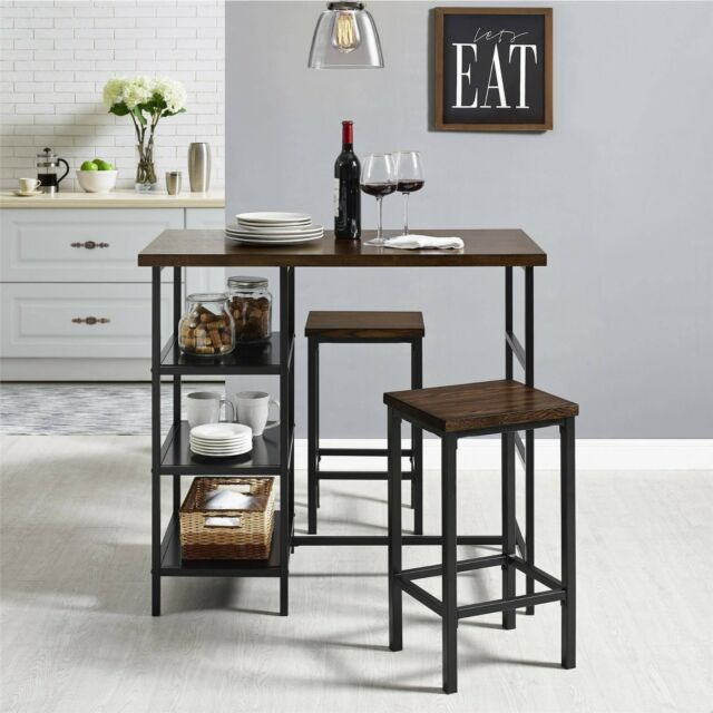Indoor Bistro Set Table and Chairs Bar Tall Stand Retro Dining .
