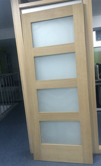 China Wood Bathroom Frosted Glass Interior Door - China 4 Glass .