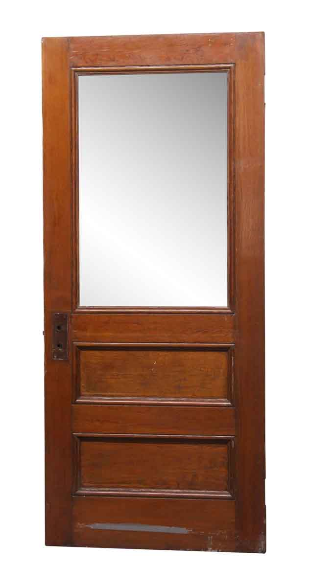 Frosted Glass Panel Wood Antique Door 82.5 x 35.5 | Olde Good Thin
