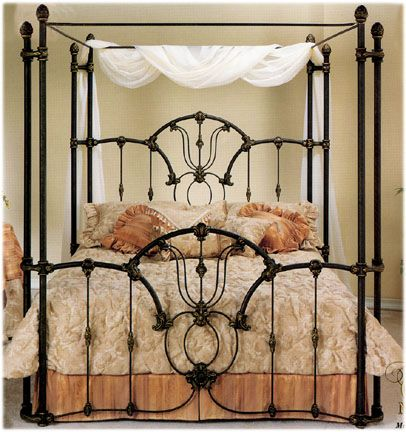 Elliott's Designs Tiffany 403 Wrap Canopy Bed wrought rod iron .