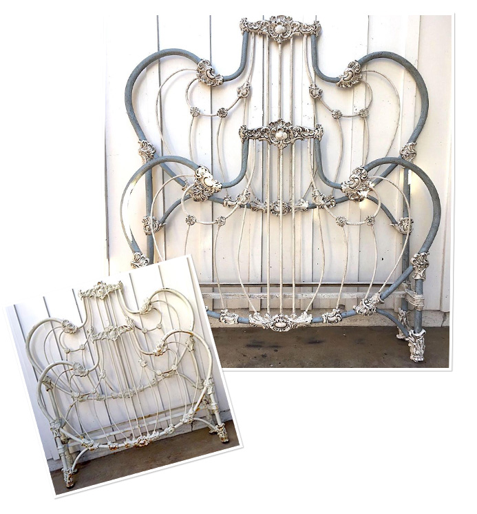 Antique Iron Beds | Victorian Vintage Bed Frames | Cathouse Be