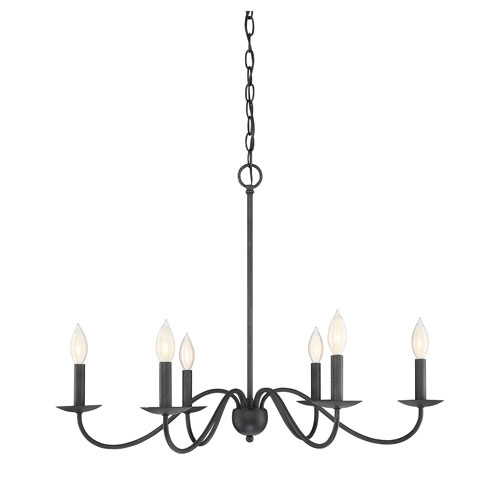 251 First Evelyn Aged Iron Six Light Chandelier | Iron chandeliers .