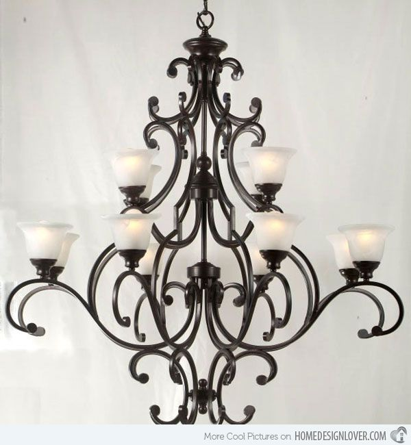 20 Wrought Iron Chandeliers | Iron chandeliers, Wrought iron .
