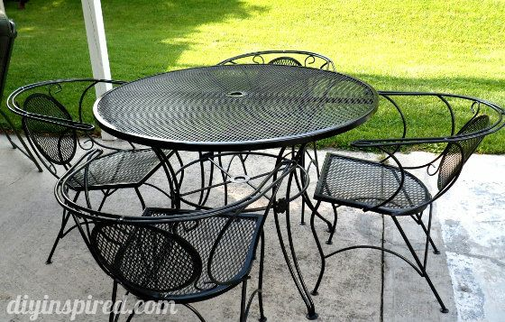 Patio Table and Chair Update | Painting patio furniture, Metal .
