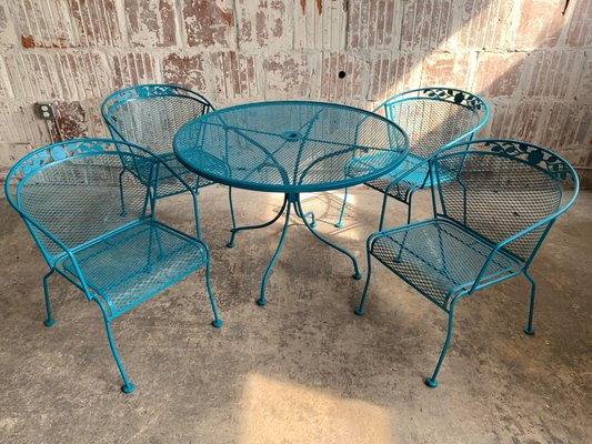 Vintage Wrought Iron Patio Set for sale at Pamo