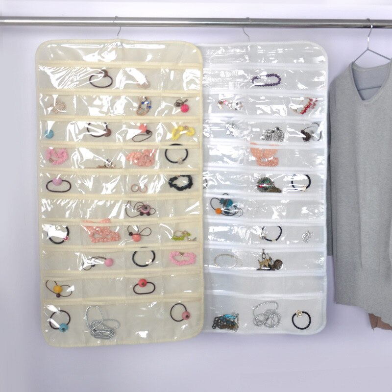 Clear Collection 40 Grid Over The Door Jewelry Organizer .