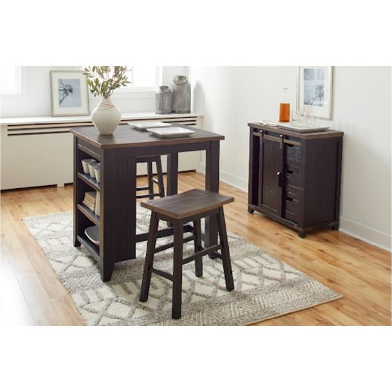 1702-36 Jofran Furniture Counter Height Dining Table With Shelv