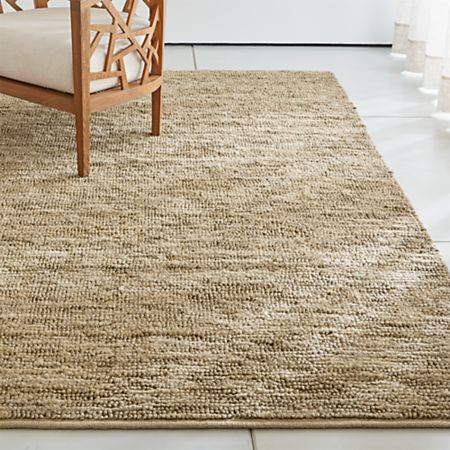 Bronte Natural Textured Jute Rug   Crate and Barr