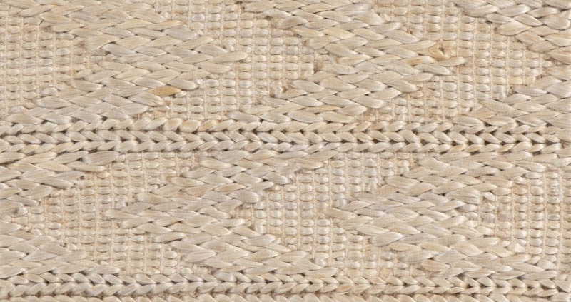 Natural Fiber Arrows Silver/Ivory/Gray Jute And Cotton Rug .