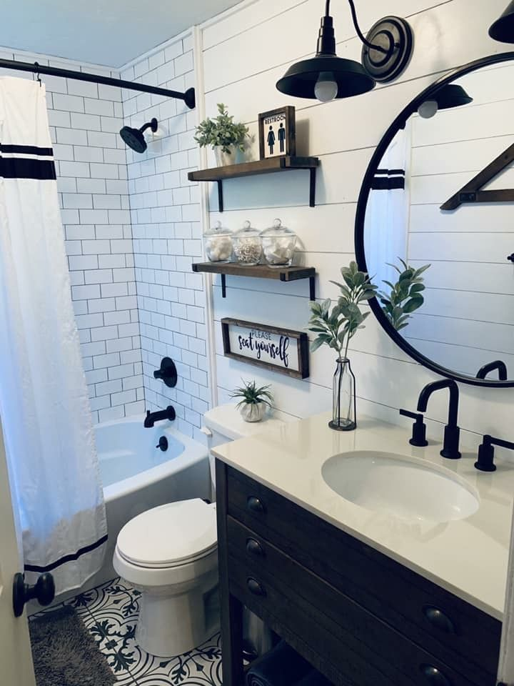 I like this idea for a guest or kids bathroom .