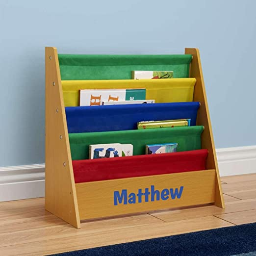 Amazon.com: DIBSIES Personalized Kids Bookshelf (Honey with .
