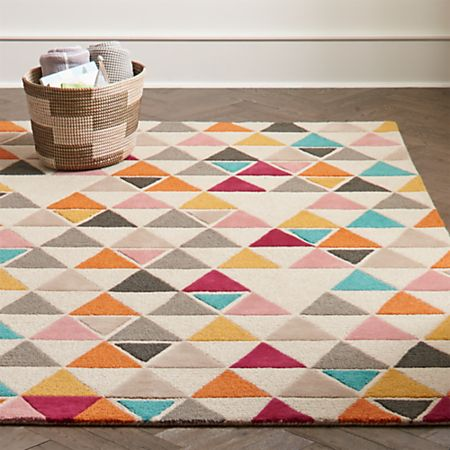 Totally Triangular Kids Rug   Crate and Barr