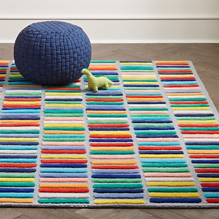 Multi Block Kids Rug   Crate and Barr