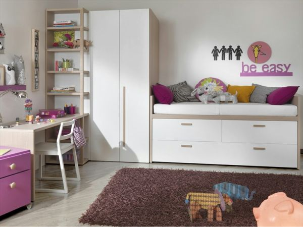 The compact Bed with storage for kids ro