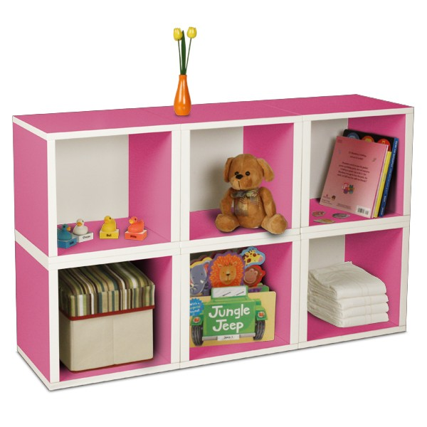 Storage Pink Cubes for the Kids Ro