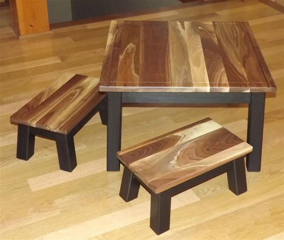 Gorgeous reclaimed wood kids table and chair set. | Kids table and .