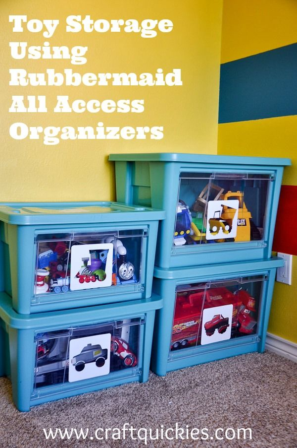 Toy Storage is simple with NEW Rubbermaid All Access Organizers .