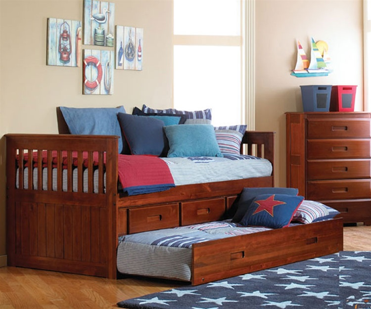 Acadia Captains Trundle Bed | Bed Frames | Discovery World Furnitu