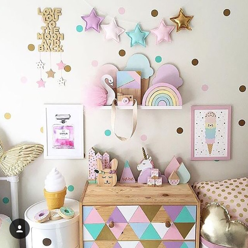 Polka Dots Wall Stickers For Kids Room Baby Nursery Stickers Wall .