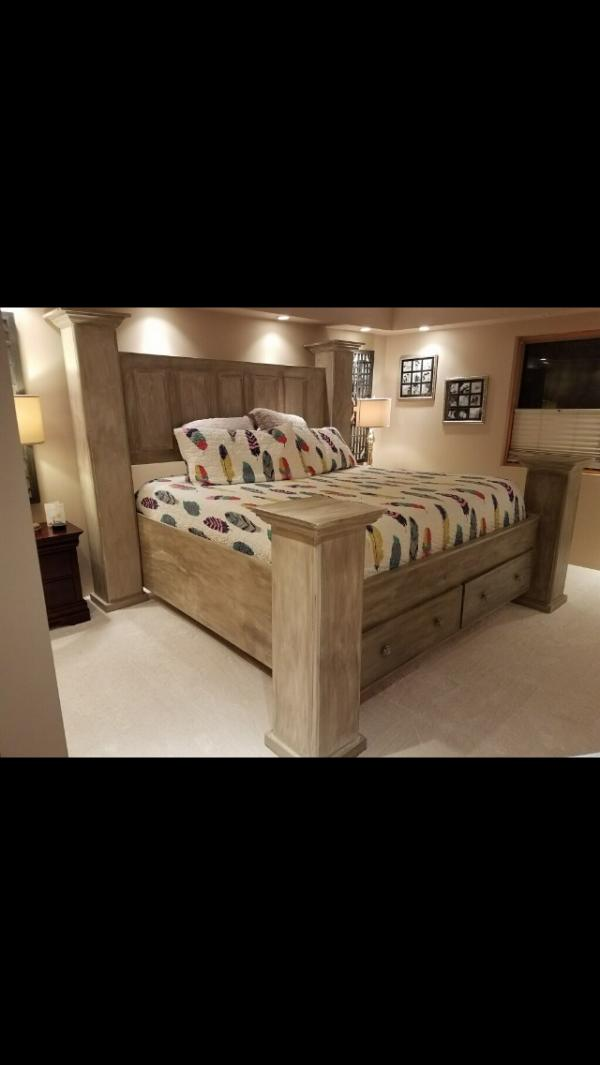 VCI Classifieds - Custom built solid wood King size bed fra