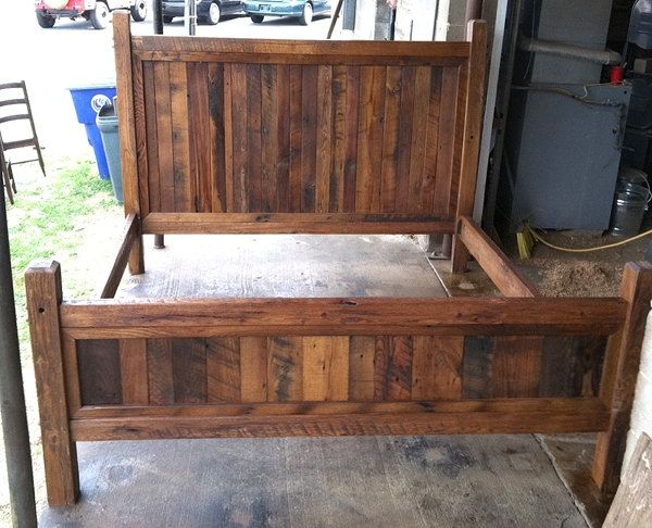 Buy Hand Made King Size Bed Frame Made With Beveled Posts, made to .