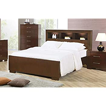 Amazon.com: Jessica Eastern King Bed with Storage Headboard and .