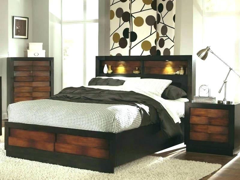 Popular Headboard With Storage And Light King Size Drawer Queen .