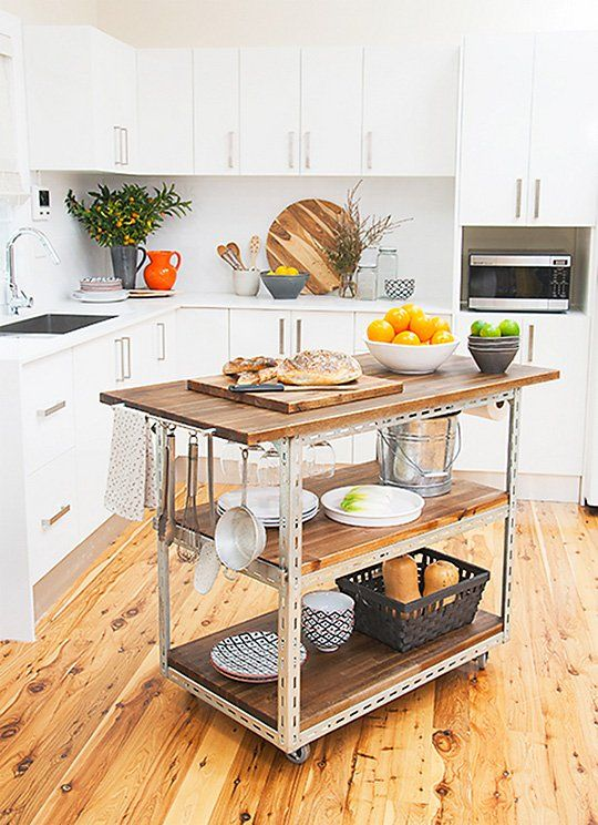 Making my own kitchen cart is a great idea, and adds mobile .