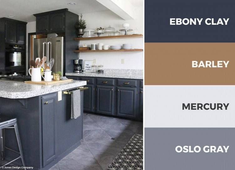 Kitchen Color Ideas With Grey Cabinets | Kitchen color palettes .