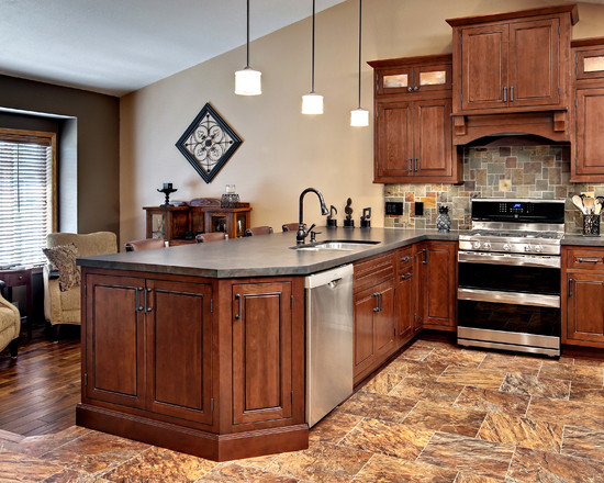 Kitchens With Cherry Cabinets, Kitchen Color Schemes Kitchen Paint .