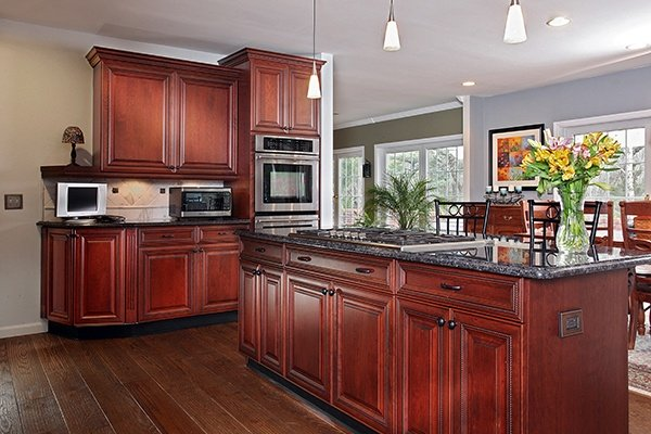 What Paint Colors Look Best With Cherry Cabinet