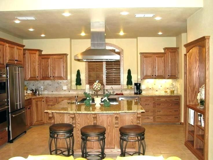 color schemes for kitchens with light wood cabinets .