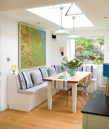 32 Elegant Ideas for Dining Rooms | Banquette seating in kitchen .