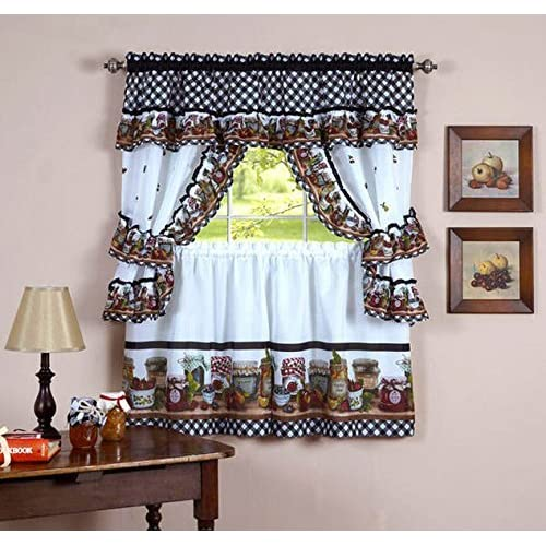 Kitchen Curtains Set: Amazon.c
