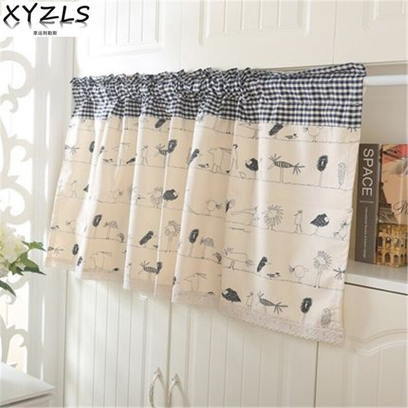 XYZLS Modern Elegant Fantastic World Blinds Kitchen Curtain Cafe .